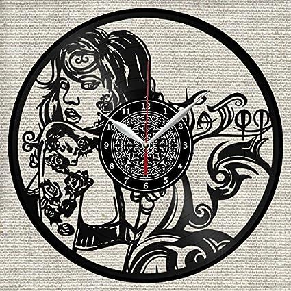 Amazon.com: Tattoo Shop Vinyl Record Wall Clock Decor Fan Art ...