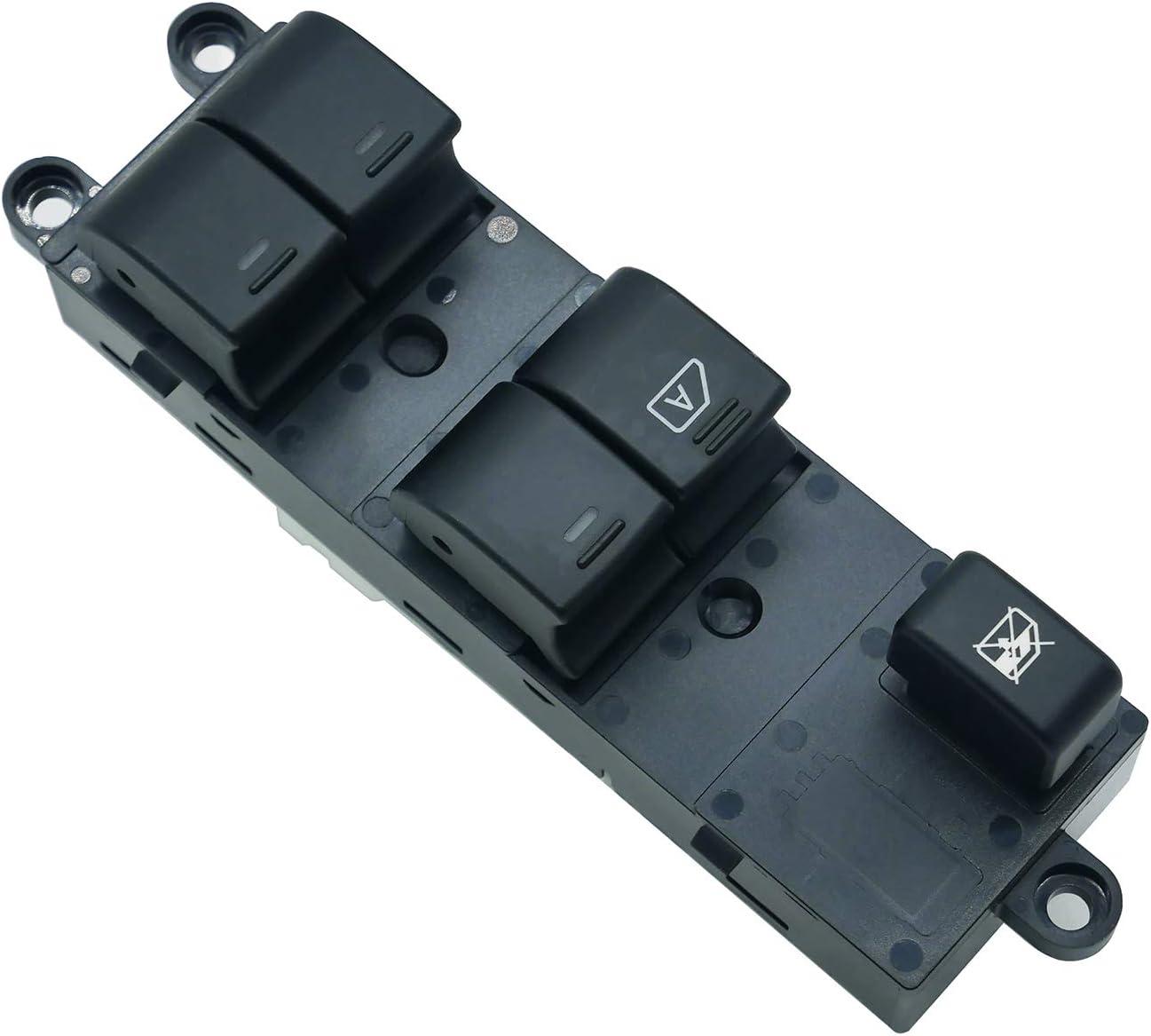 ZEALfix Interruttore Alzacristalli Elettrico, Pulsantiera Finestra 25401-EB30B per Qashqai Navara Pathfinder