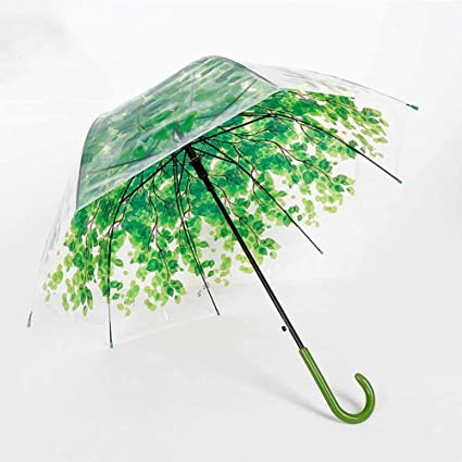BiuTeFang Paraguas Paraguas mango largo protección del medio ambiente paraguas transparente Apolo paraguas PVC 58.5x85cm