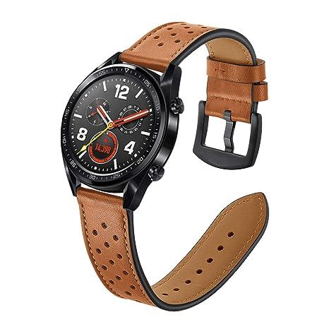 CARRYKT Banda Huawei Watch GT Correa de Cuero smartwatch ...