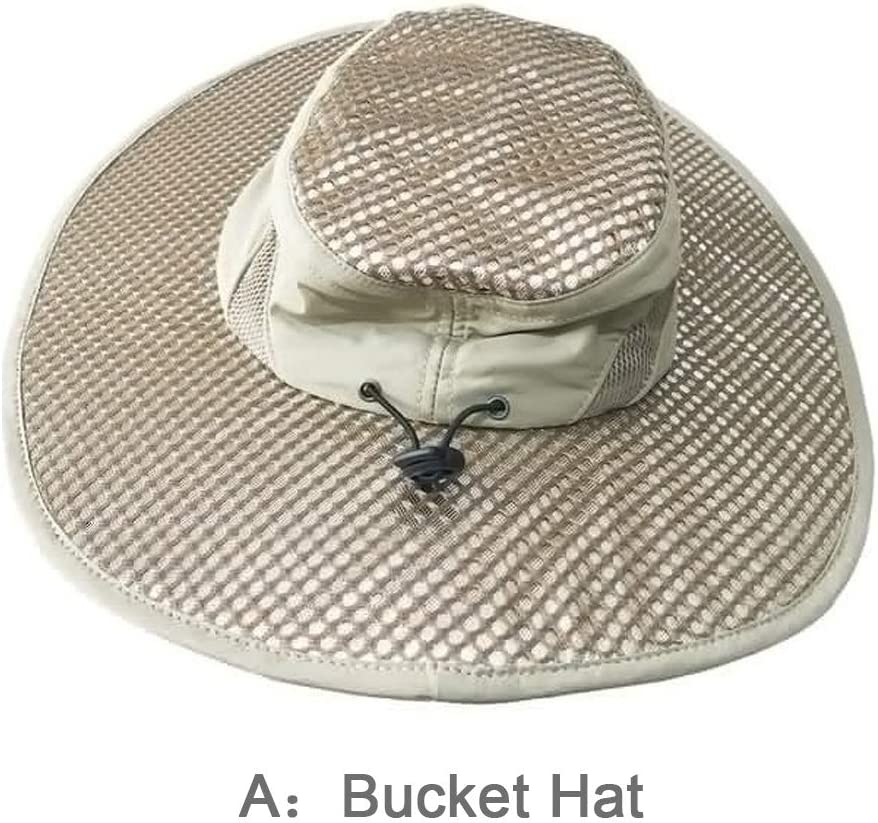 UV Protection Cooling Sun Hat Arctic Cap Cooling Ice Cap Fisherman's Hat, Sunscreen Hydro Cooling Peaked Cap (A:Bucket Hat)