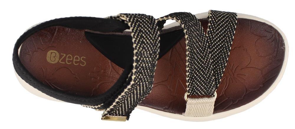 BZees Women's Jive Sport Sandal B071G3S75Z 6 M US|Black