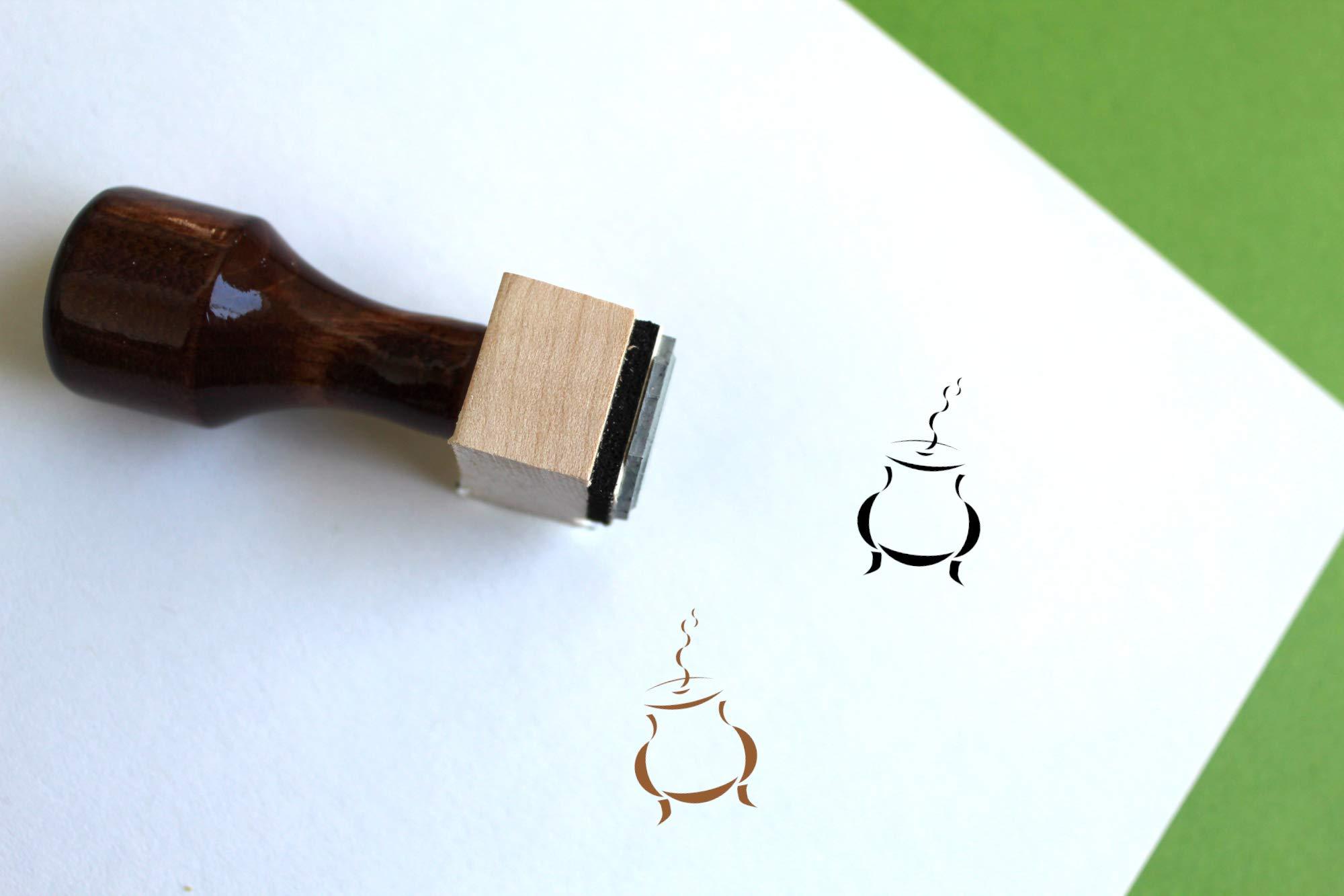 Incense Burner Rubber Stamp (3'' x 3'')
