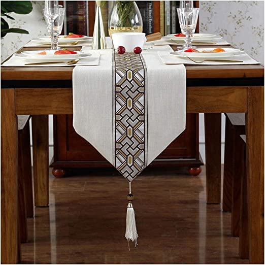 Caminos de mesa Chenille Table Runner Top Decor Mesa de Comedor ...