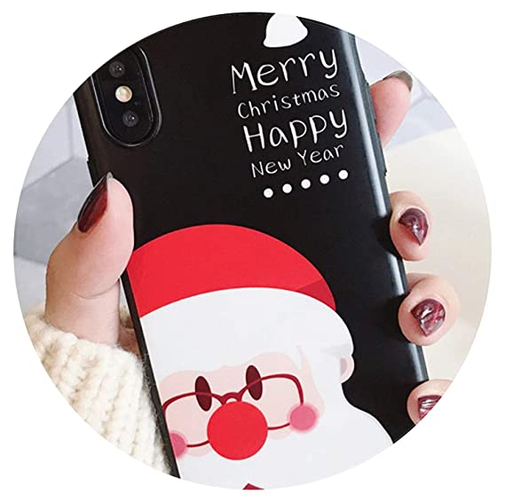 Amazon Com For Santa Claus Elk Cartoon Apple X Mobile Shell