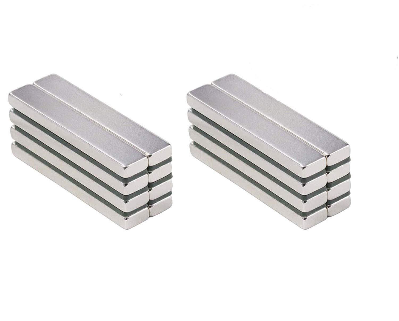 ZHW Neodymium Bar Magnets with, Rare-Earth Metal Neodymium Magnet - 60 x 10 x 3 mm (20 Pack)