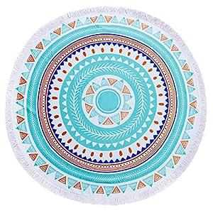 ZUOAO Toalla de Playa Redondo Microfibra Hippie Tapiz de Pared Indian Mandala, Manta Multi-funcional para Yoga/Gimnasio… | DeHippies.com