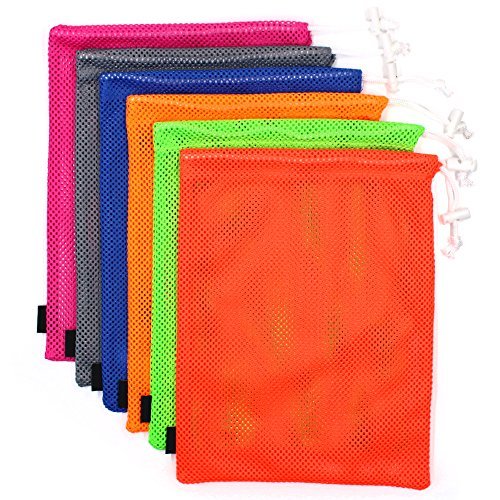 MoMaek Set of 6 Nylon Mesh Storage Ditty Bag Stuff Sack for Travel & Outdoor Activity