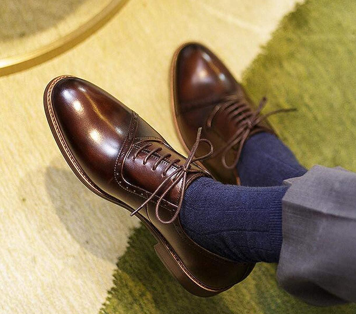 0bffac475342 Dark Brown Brown Brown .Carved Derby Pointed England Men's Leather ...