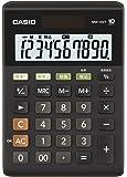 カシオ スタンダード電卓 W税率設定・税計算 ミニジャストタイプ 10桁 MW-100T-BK-N ブラック
