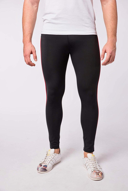 5941a4349a5 Amazon.com: Kapow Meggings Men's Performance Range Leggings - Sports  Compression with Pockets: Clothing