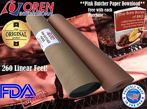 Oren International's Premium Quality Pink/Peach Butcher Paper (26