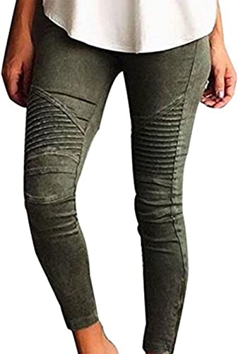 Womens Pencil Stretch Casual Denim Skinny Jeans Pants Ladies High Waist Trousers