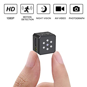 Mini Spy Camera,1080P Hidden Camera,Portable Hidden Spy Camera
