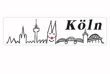 Toller Kleiner Autoaufkleber 15cm Köln Skyline Kölner