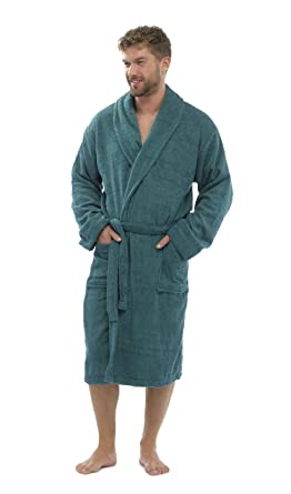 f102b0b593 Mens Luxury 100% Cotton Towelling Bath Robe Dressing Gown Wrap Nightwear  HT566  Amazon.co.uk  Clothing