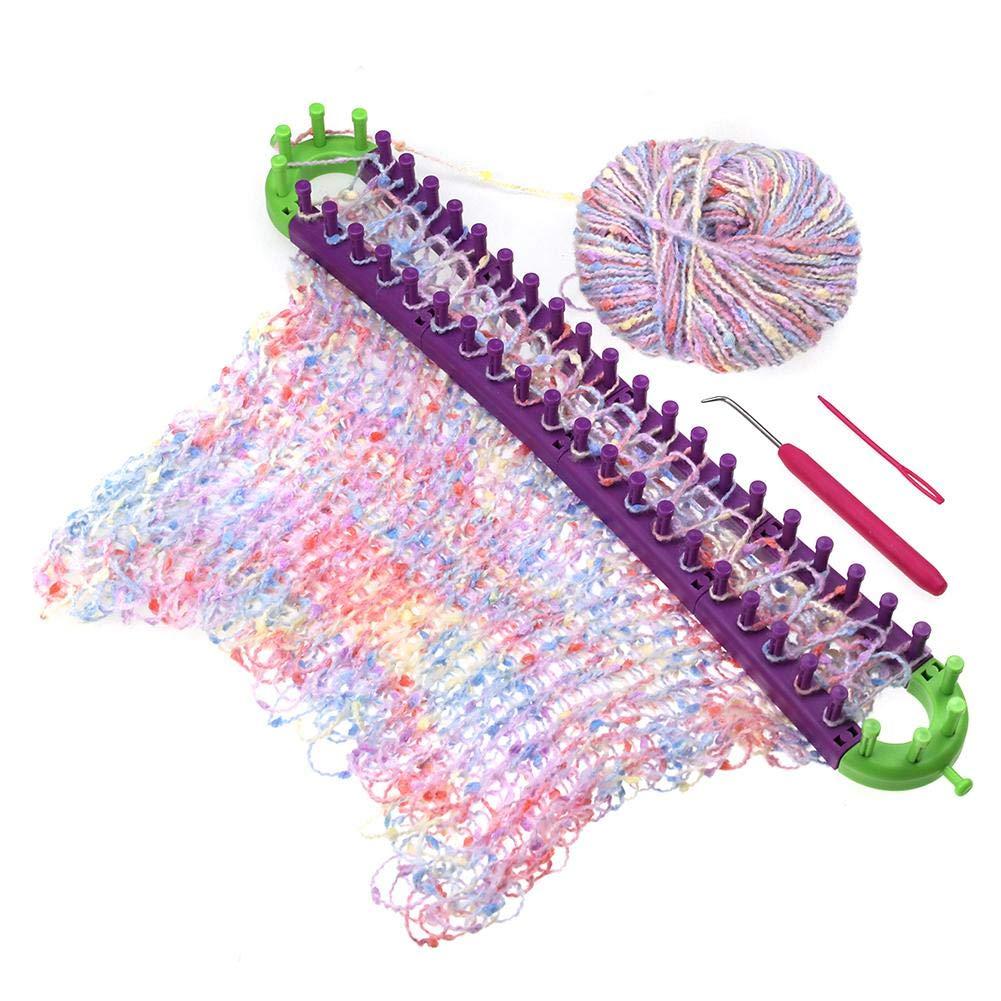 Lorumek DIY Knitting Loom Multi-Function Rotating Knit Machine Knitting Craft Kit Sock Scarf Hat Maker,
