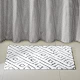 Cedric Cotton tufted rug Grey 20x30''