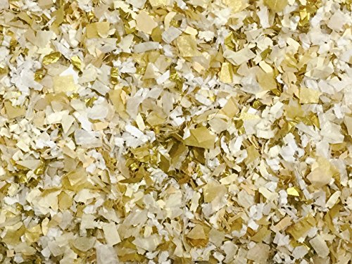 White Ivory Gold Confetti Mix Biodegradable Wedding Party Decorations Decor Throwing Send Off EcoFriendly Environmentally Friendly Compostable InsideMyNest (25 Handfuls) by Inside My Nest