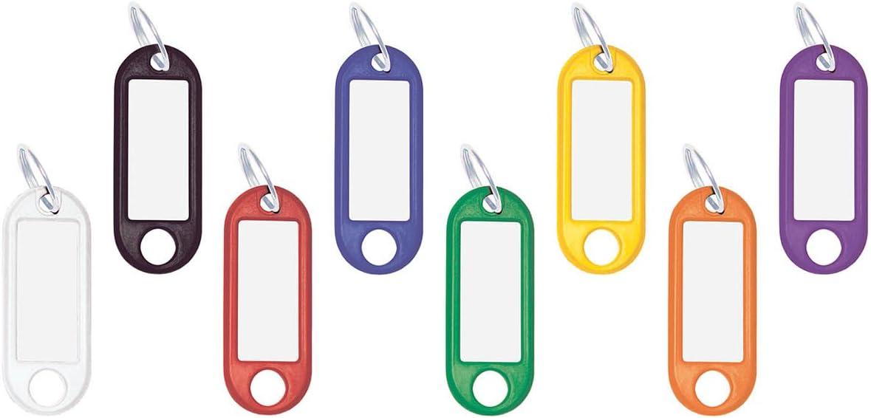 varios colores Llavero identificador de pl/ástico Wedo 262 100 unidades