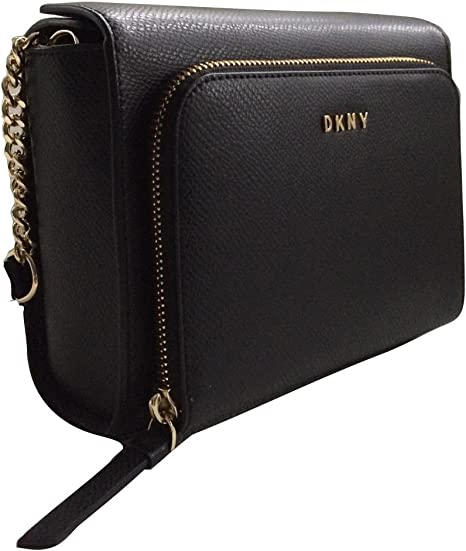 DKNY Small Black Leather Shoulder Cross Body Bag: Amazon.co