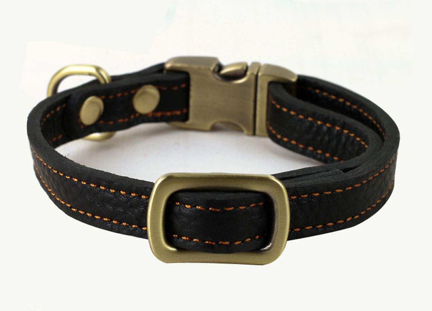 Black Large Black Large Pet Collar for Dogs Medium Large Heavy Duty Leather Classical Training Walking Necklace Puppy,Black,L