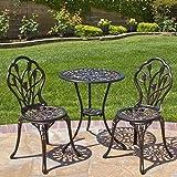 Antique Bistro Set Outdoor Patio Furniture Tulip Design Cast Aluminum Copper New -by# genom01, #UGEIO128262561382236