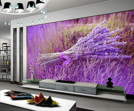 Color Lavanda Per Pareti : Wapel decorazione home tv color lavanda decorazione murale dipinto