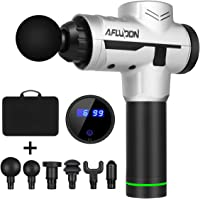 Afluodn Handheld Deep Tissue Muscle Massage Gun for Pain Relief, Handheld Electric Body Massager (White)