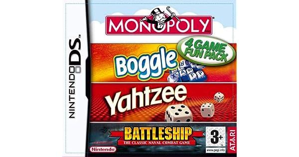 Hasbro Compilation: Monopoly/Boggle/Yahtzee/Battleships (Nintendo DS) [importación inglesa]: Amazon.es: Videojuegos