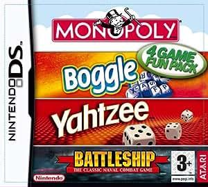 Amazon Com Hasbro Compilation Monopoly Boggle Yahtzee Battleships Nintendo Ds Video Games