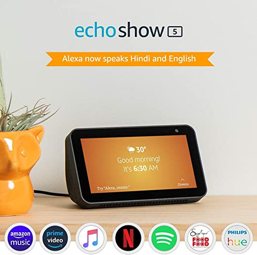 Introducing Echo Show 5 - Smart display with Alexa - 5.5