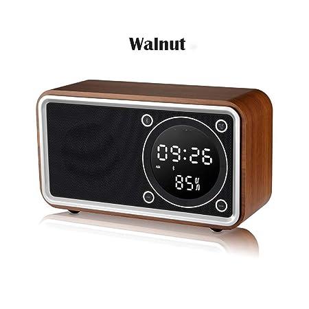 XJYA Carga inalambrica Despertador,Pantalla LED Reloj de Mesa de ...