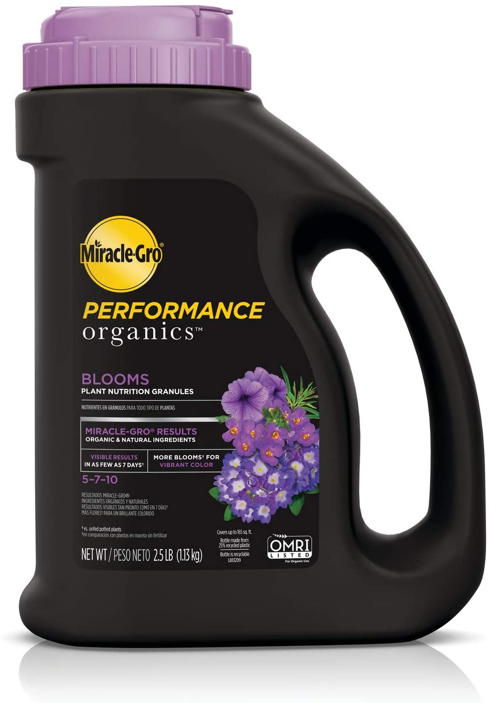Miracle-Gro Performance Organics Blooms Plant Nutrition Granules - Plant Food with Natural & Organic Ingredients, for Flowering Plants, 2.5 lbs.