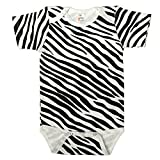 The Laughing Giraffe Unisex Infant Animal Print Cotton Baby Bodysuit Onesie (12-18M, Zebra Print)