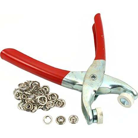 8 Snap Fasteners Pliers Leatherworking Craft Fabric