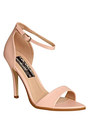 e0a46a4c9ca Pilot Maya Barely There Strappy High Heel Sandals Pale Pink
