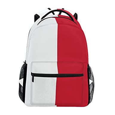 Amazon.com  Indonesia Flag School Backpack Large Shoulder Bookbag ... 7af5f34c9a44