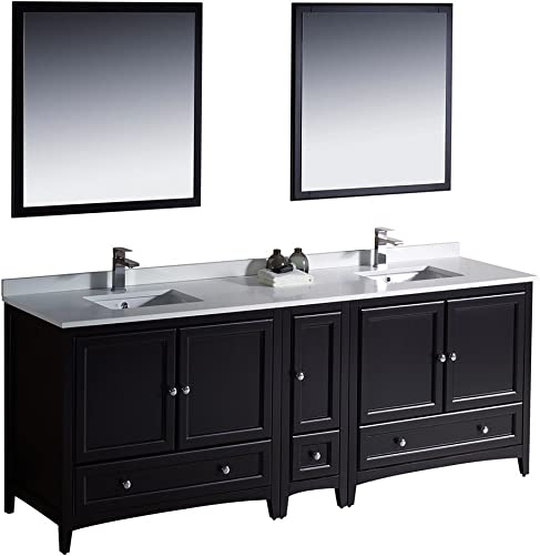 Fresca Bath FVN20-361236ES Oxford 84″ Double Sink Vanity