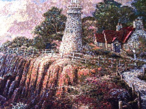 Light of Peace Thomas Kinkade Tapestry Light of Peace Cottage