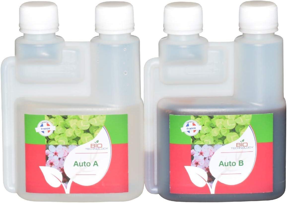 Bio Technology® | Fertilizante de Crecimiento Mineral | Fertilizante de Floración Mineral | Fertilizante de Autofloración | Auto A + B - 250 ml