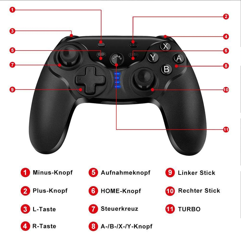 Amazon.com: J-Cooper Update Version Controller Gamepad Wireless with Double Motor Vibration Function for Nintendo Switch Console (1 Pair): Electronics