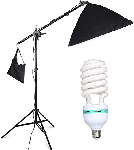 """YISITONG Photography Continuous Softbox Lighting Kit 20""""x 28"""" Professional Photo Studio Equipment with 3X 25W LED E26 Socket 5500K Video Lighting Bulb for Filming Portraits Shoot"""