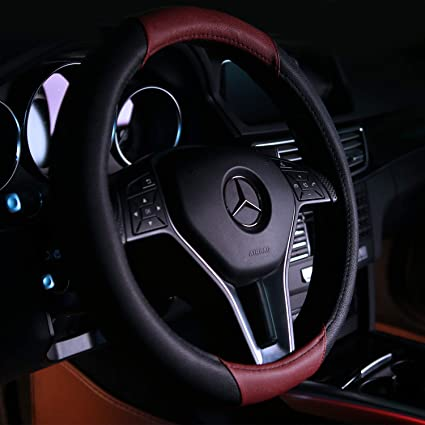 Brotherp Universal 15 inch Steering Wheel Covers Classic Red Wine