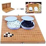 囲碁セット 折りたたみ式 ポータブル 折り畳み式碁盤盤 (2)