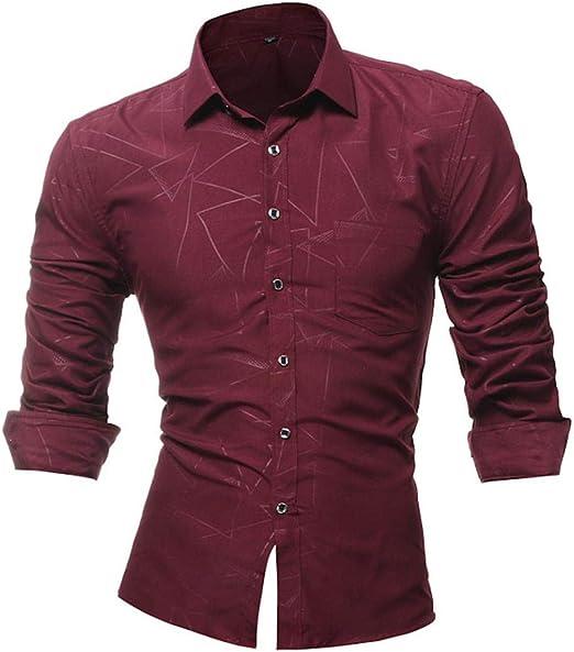 HhGold XXXL Camisa Negra para Hombre Top de Manga Larga Casual Slim Fit Personalizado patrón 3D Poliéster Y Cuello Reino Unido Venta Gran Blusa Jersey (Color : Rojo, tamaño : X-Large): Amazon.es:
