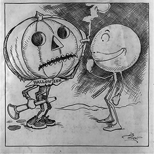 Photo: Halloween, the Minnesota snowball, Jack-o-lantern, Party Horn, 1898-1915, Bartholomew . -