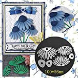 3.4 by 4.3 Inches Flower Skull Metal Cutting Dies