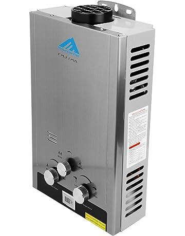 Ridgeyard 8L 2 GPM Gas Natural Instantáneo Calentador de agua doméstico Baño Ducha Caldera Acero inoxidable