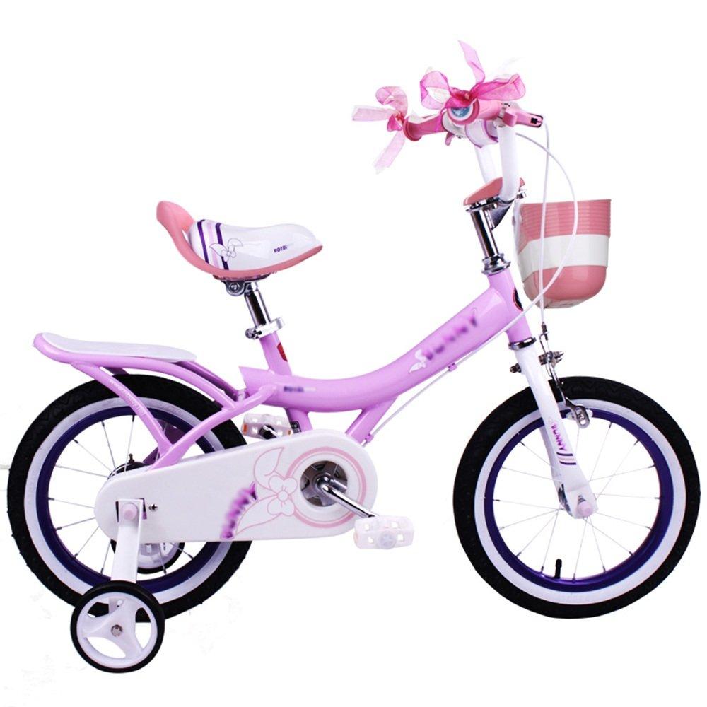 HAIZHEN マウンテンバイク 子供用自転車 ピンク、ライトピンク、紫 サイズ12インチ、14インチ、16インチ、18インチ アウトドアアウト 新生児 B07C6RB9B5 14 inch|Light pink Light pink 14 inch